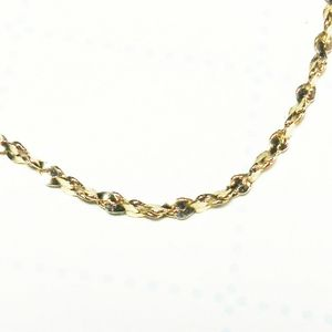 24KGB Twisted Rope Chain Bracelet